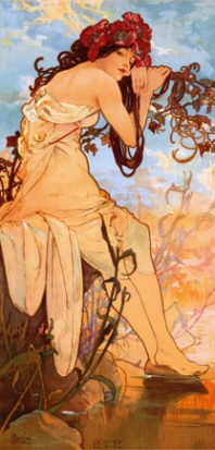 """Estate"" di Alfons Mucha"