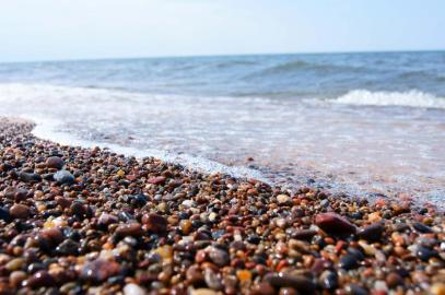 Stony beach of Baltic Sea
